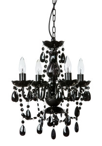 Crystal chandeliers gypsy color 4 light mini black chandelier aloadofball Image collections
