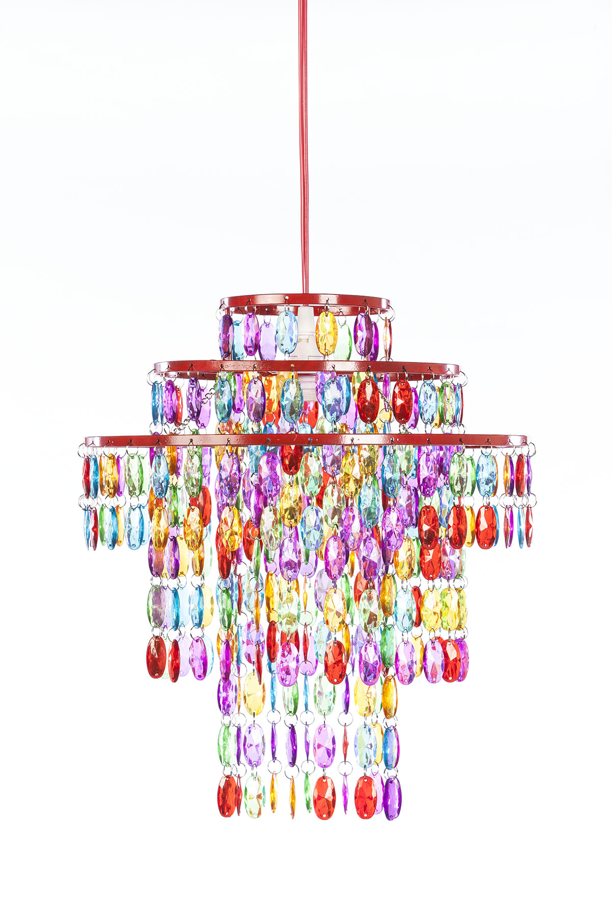Crystal chandeliers gypsy color gypsy color pendant 1 light 3 tier chandelier multi color h 14 x w 13 upc 682962248951 sku gy3lmc aloadofball Image collections